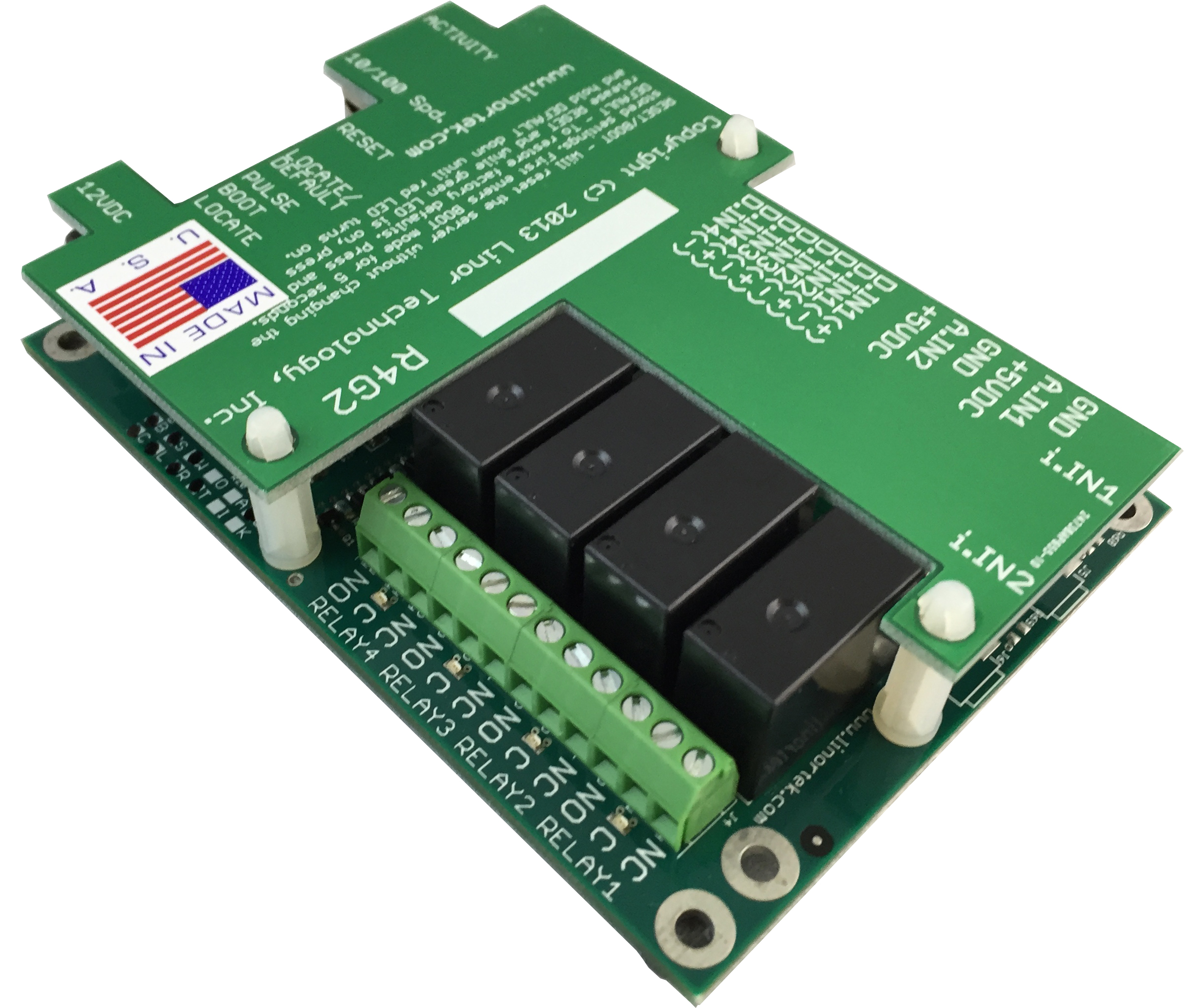 FARGO G2R4DI Web Based TCP/IP Ethernet Relay Board 4 Relay Outputs, 4 Digital Inputs