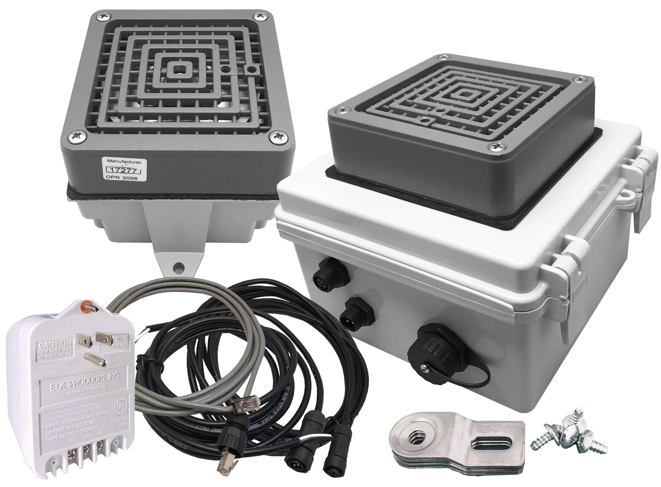 Linortek Netbell-KB-E1 Network Extra Loud Automatic Factory Warehouse  Industrial Break Bell System Programmable Timer Controller w/ 1 External  Buzzer