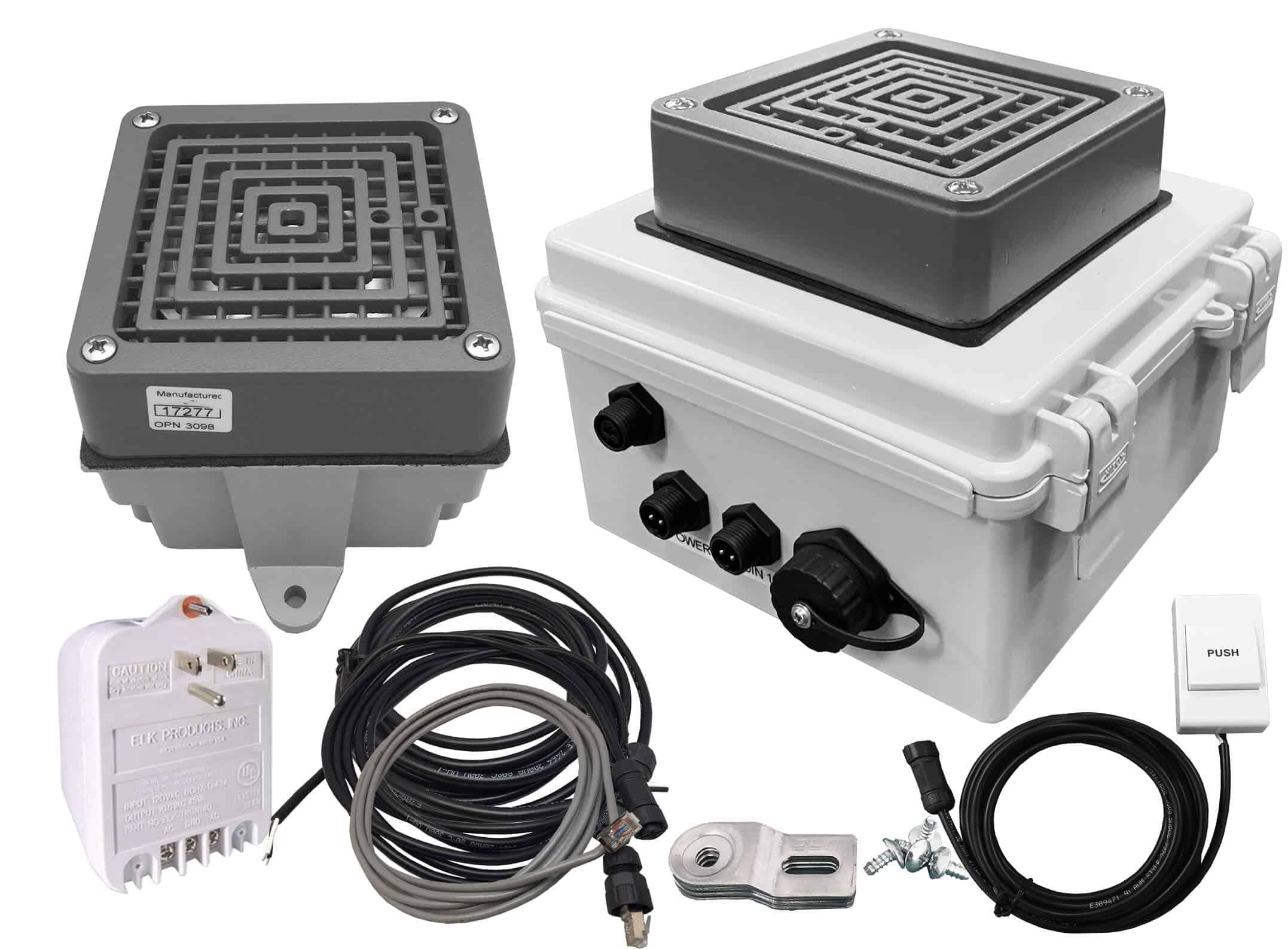 Linortek Netbell-KB-E1 TCP/IP Extra Loud Factory Warehouse Break Buzzer System Programmable Bell Timer Controller w/1 Ext. Buzzer (2 Buzzers System)