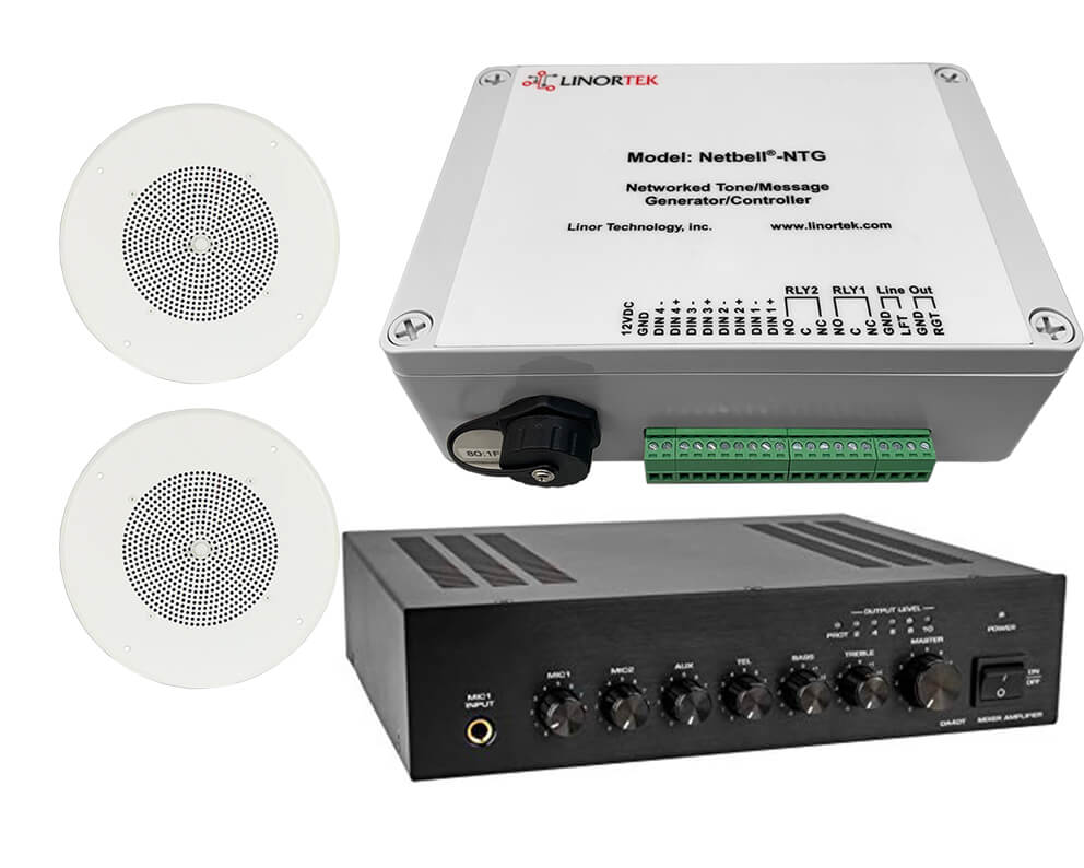Netbell-NTG-C TCP/IP Network Public Address Paging Sound System for School Commercial Industrial Facilities Break Time Alert Emergency Notification