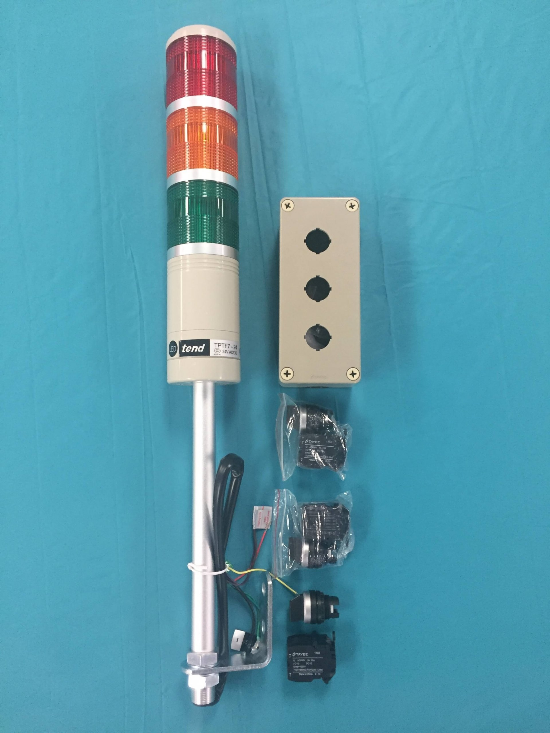 LED Tower Light Red Yellow Green Solid with Continuous or Flashing Lighting with Audible Alarm