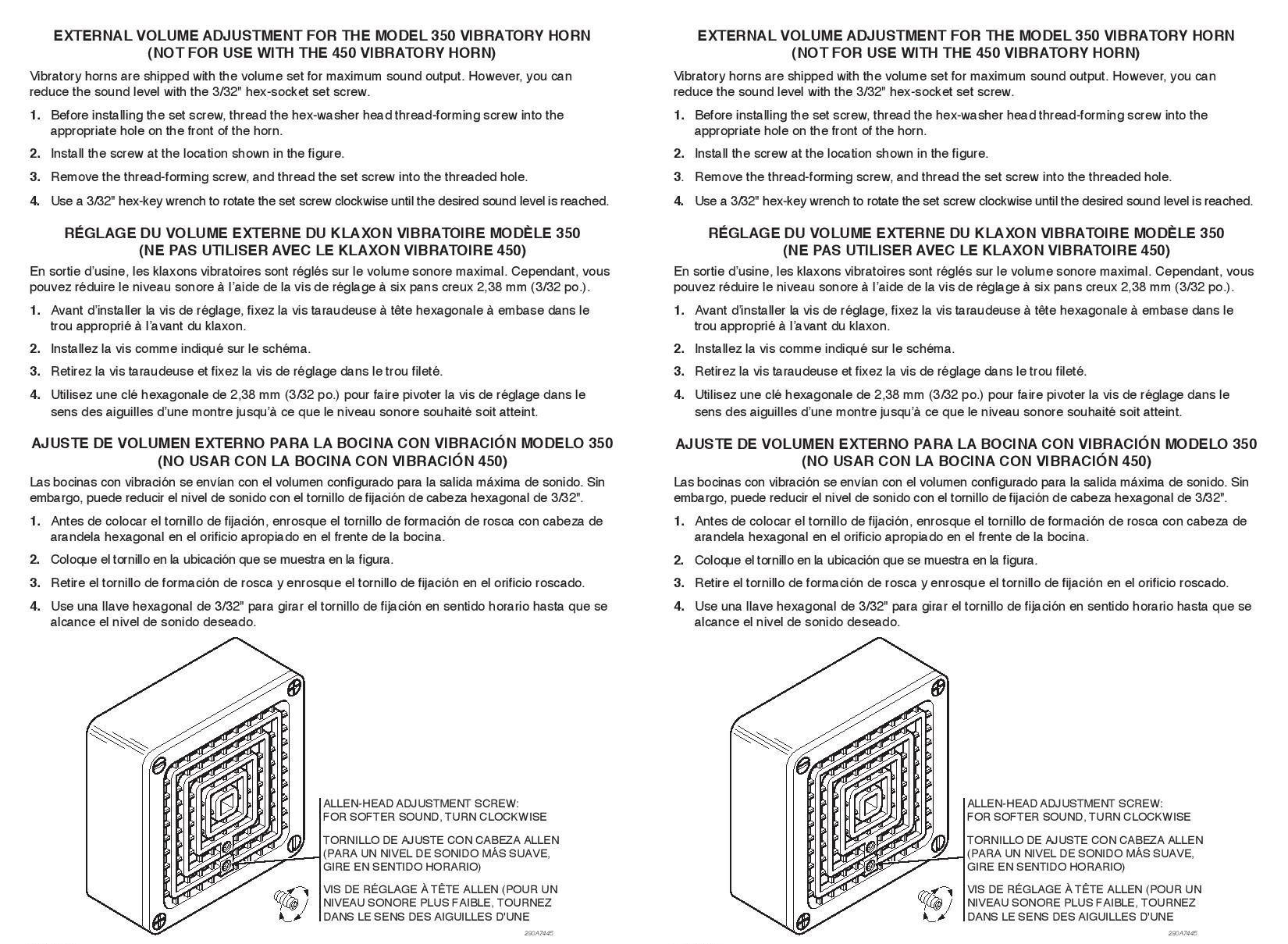 Buzzer Volume Adjustment Kit