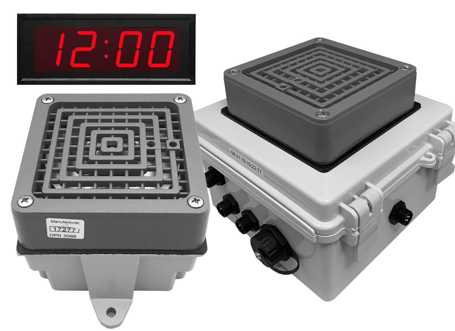 Netbell-KB-E1-C Network All-in-One Extra Loud Break Buzzer Clock System (2 Buzzers System)