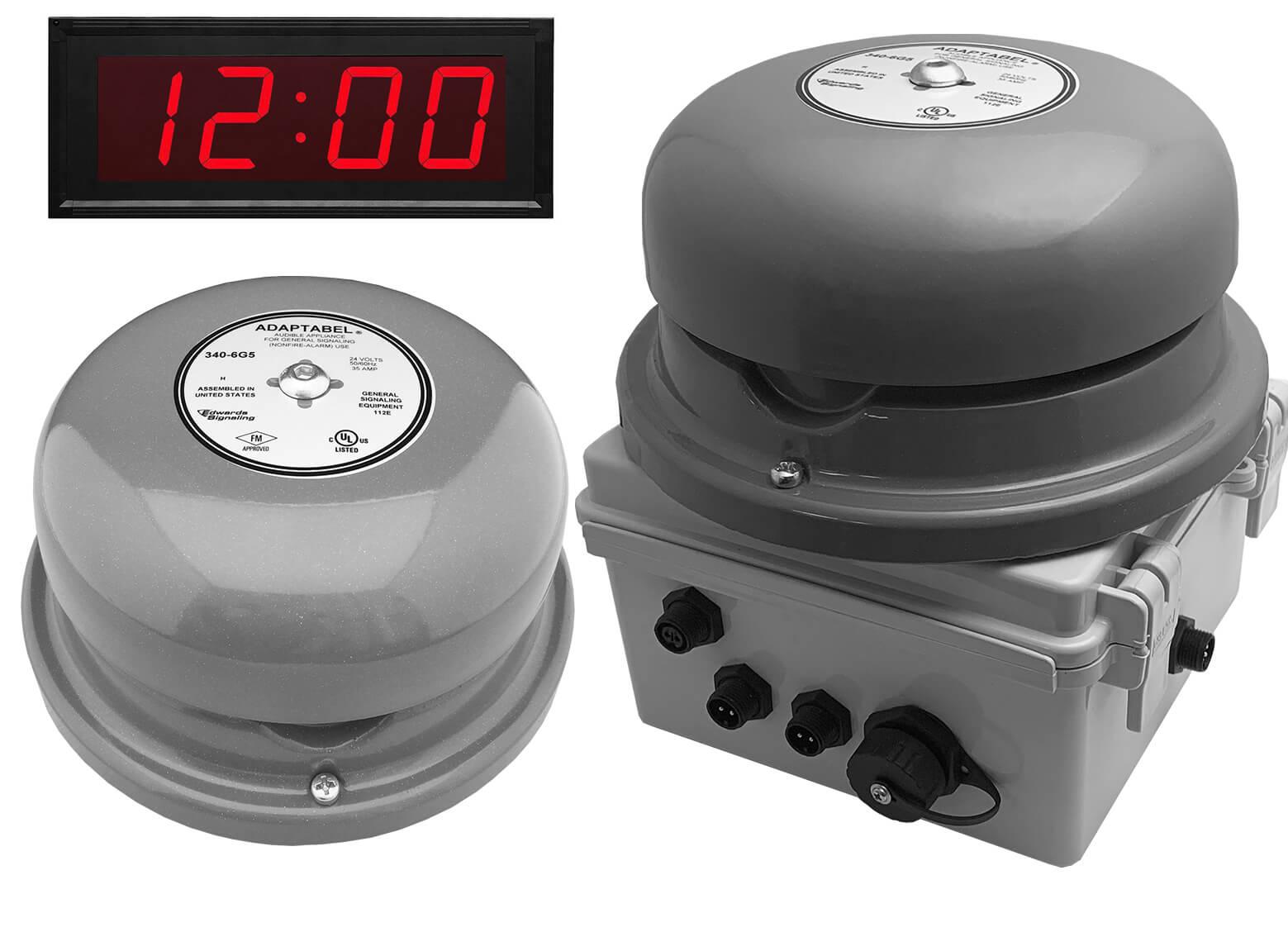 Netbell-KL-E1-C Network All-in-One Extra Loud Break Bell Clock System (2 Bells System)