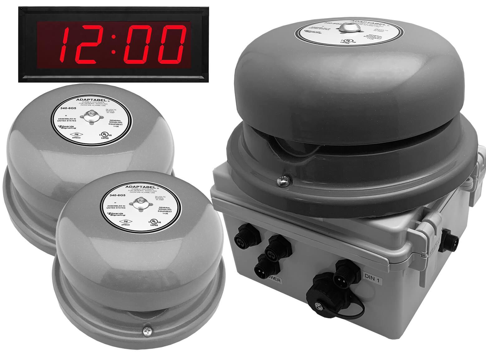 Netbell-KL-E2M-C Network All-in-One Extra Loud Break Bell Clock System (3 Bells System)