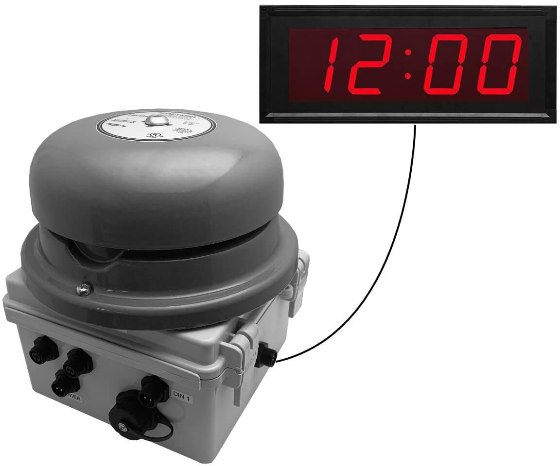 Netbell-KL-M2-C Network All-in-One Extra Loud Break Bell Clock System