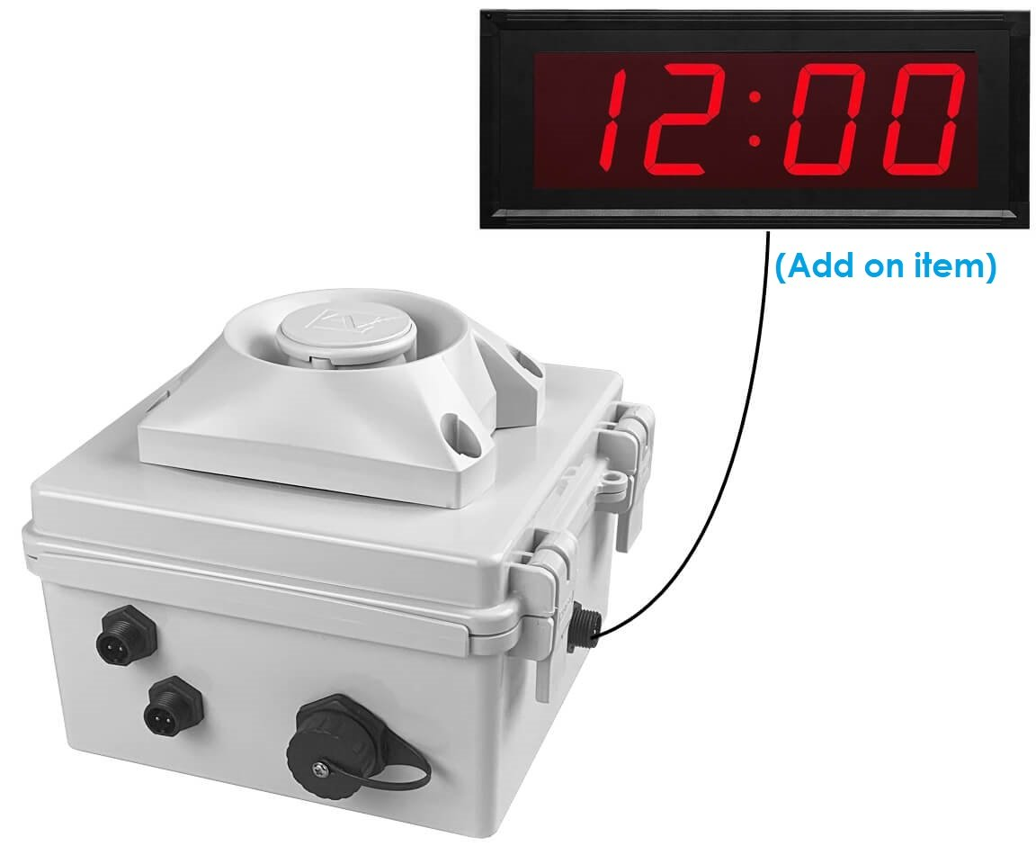 Netbell-KMB Network All-In-One Extra Loud Multi-Tone Buzzer Clock System